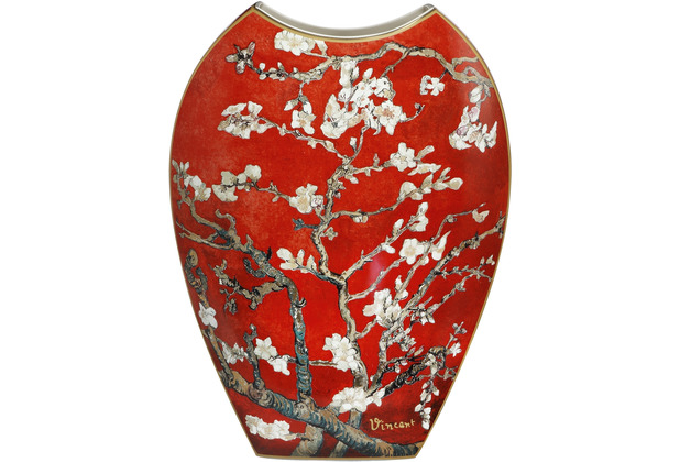 "Goebel Vase Vincent van Gogh - \""Mandelbaum rot\"" 45,0 cm"