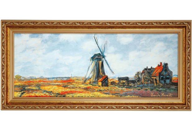 "Goebel Wandbild Claude Monet - \""Tulpenfeld\"" 57,0 x 27,0 cm"