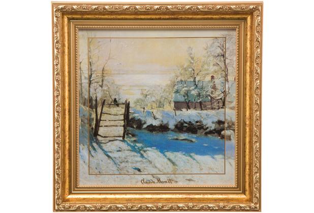 Goebel Wandbild Claude Monet - Winterlandschaft 31,5 x 31,5 cm