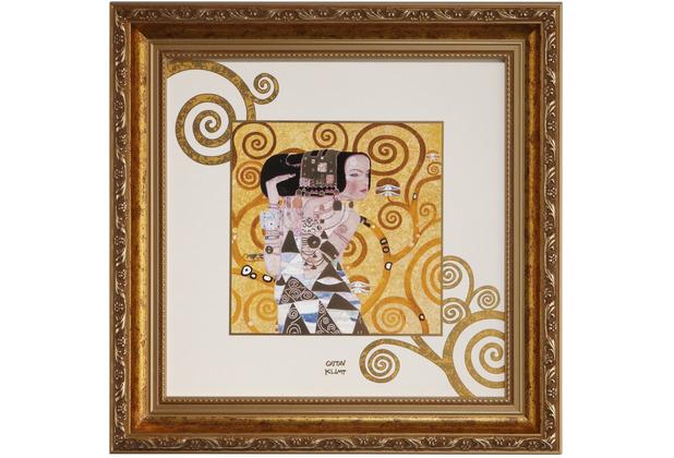 "Goebel Wandbild Gustav Klimt - \""Die Erwartung\"" 31,5 x 31,5 cm"