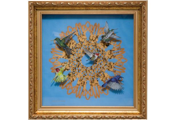 "Goebel Wandbild Joanna Charlotte - \""Spirograph\"" 35,0 x 35,0 cm"