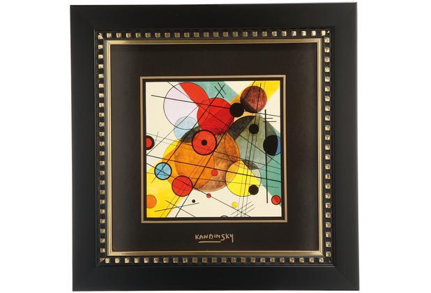 "Goebel Wandbild Wassily Kandinsky - \""Kreise im Kreis\"" 25,5 x 25,5 cm"