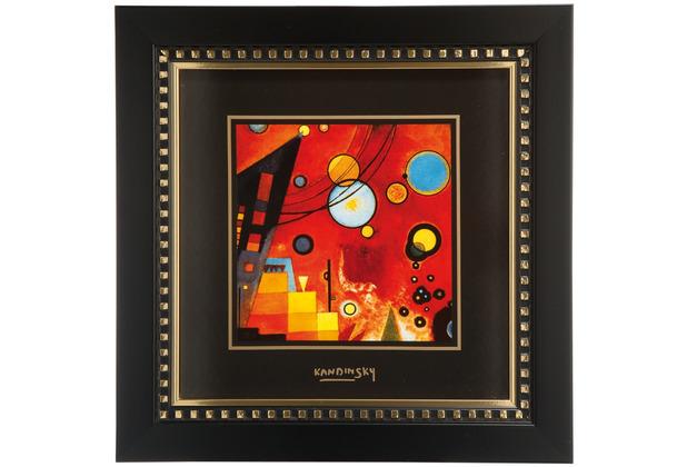 "Goebel Wandbild Wassily Kandinsky - \""Schweres Rot\"" 25,5 x 25,5 cm"