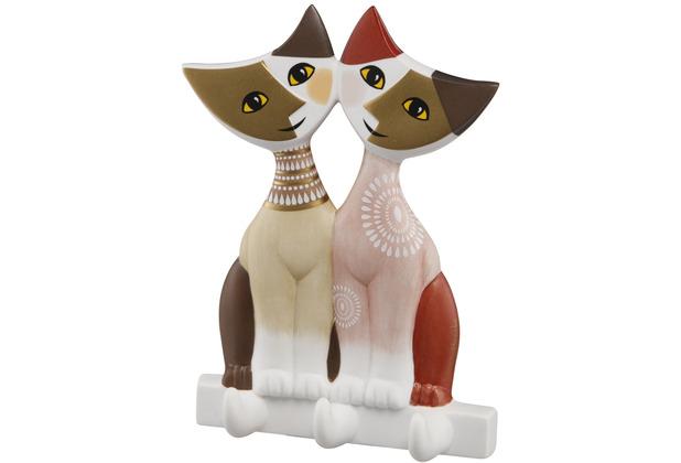 Goebel Wandhaken Rosina Wachtmeister - Katzenpaar Arcana 14,0 cm