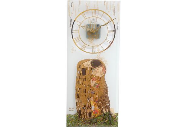 "Goebel Wanduhr Gustav Klimt - \""Der Kuss\"" 20,0 x 48,0 cm"