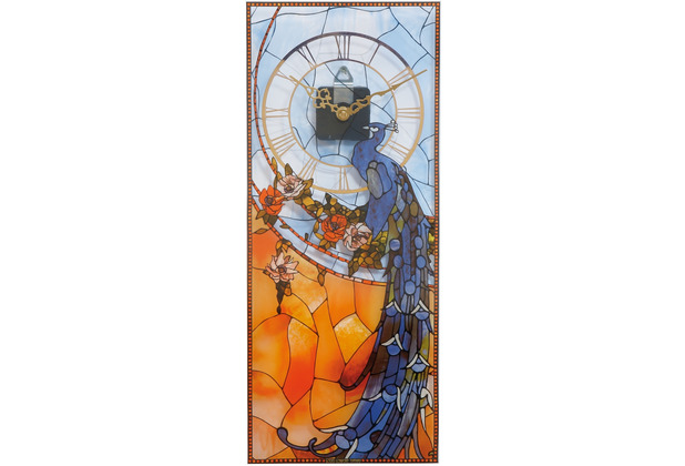 "Goebel Wanduhr Louis Comfort Tiffany - \""Pfau\"" 20,0 x 48,0 cm"
