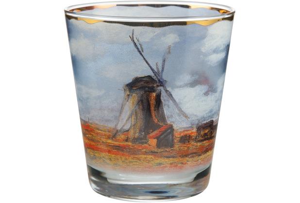 """Goebel Windlicht Claude Monet - \""""Tulpenfeld\"""" 10,0 cm"""