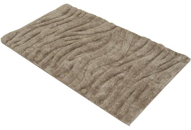 Gözze Badteppich Welle sand 50 cm x 70 cm