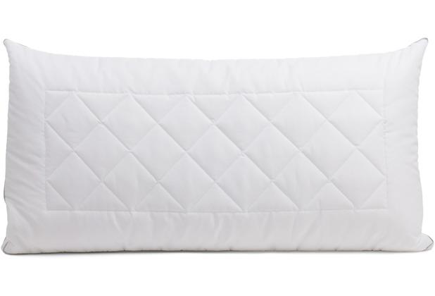 Gözze Kissen mit Innenkissen/Nachfüllbeutel und Klimaband weiß 40 x 80 cm