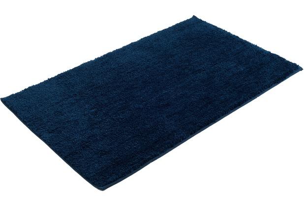 Gözze Mikrofaser Badteppich Rio dunkelblau 70 x 120 cm