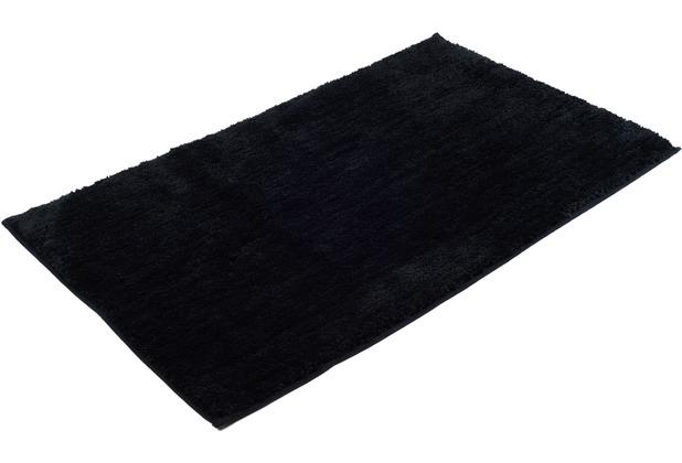 Gözze Mikrofaser Badteppich Rio schwarz 70 x 120 cm