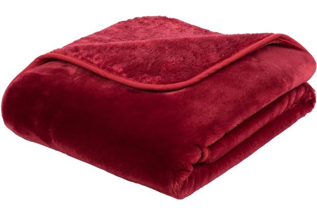 Gözze Premium Cashmere-Feeling Decke rot 180x220 cm
