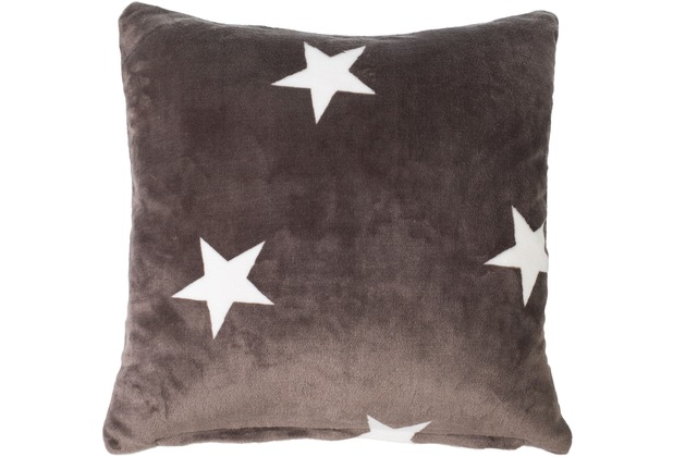 Gözze Sofakissen Sterne taupe Dekokissen 50 x 50 cm