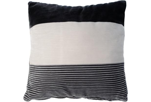 Gözze Sofakissen Streifen schwarz Dekokissen 50 x 50 cm