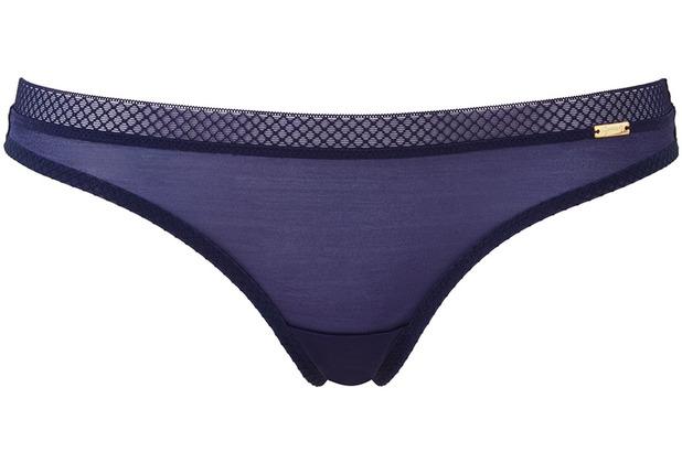 Gossard Glossies String Midnight Blau L