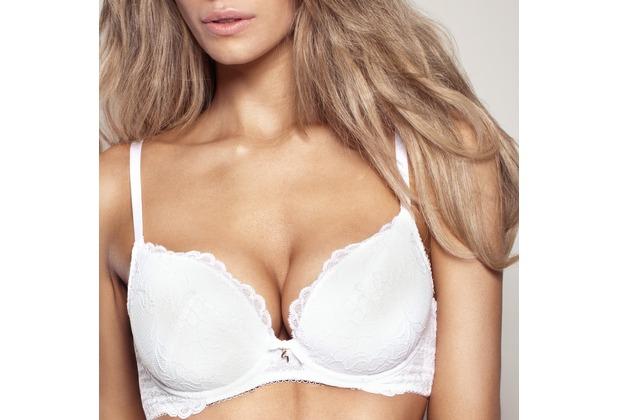 Gossard Lace Plunge Bra White 65G