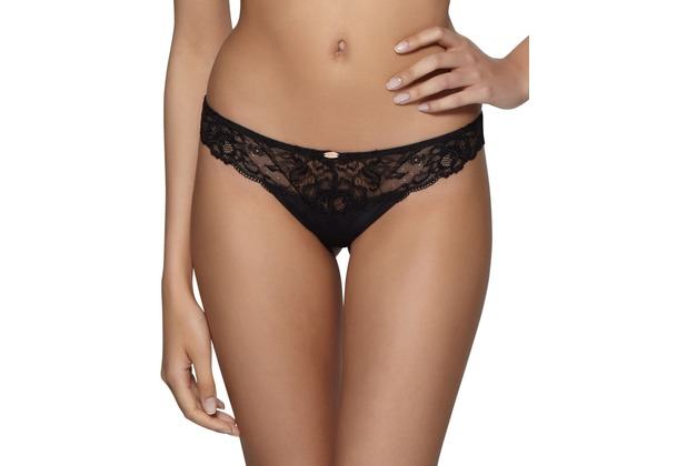 Gossard Super Smooth Glamour Lace String Black/Nude XS