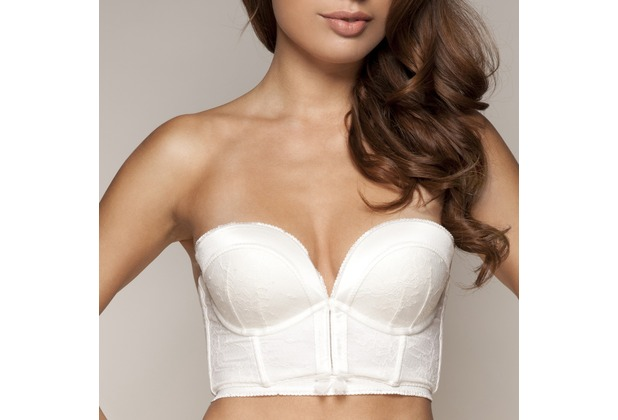 Gossard VIP Retrolution Trägerloser Push-Up BH Ivory 85F