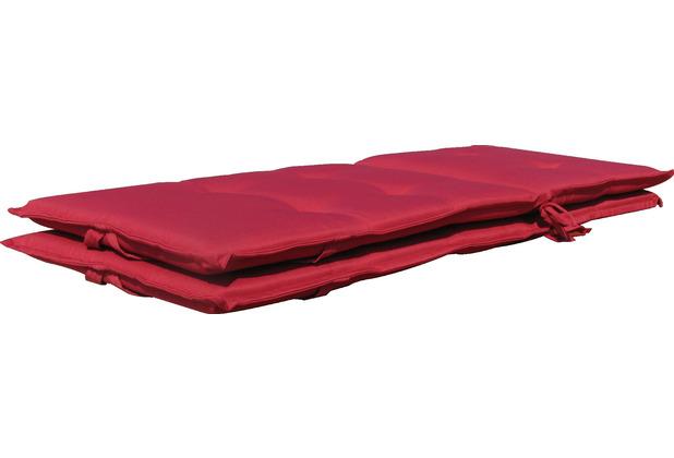 Grasekamp 2 Kissen Klappsessel Santos - Rubinrot Uni rot