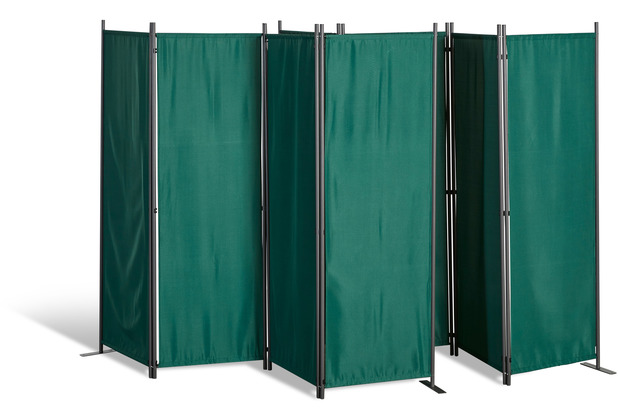 Grasekamp 2 Stück Paravent 4tlg Raumteiler  Trennwand Sichtschutz Grün Grün