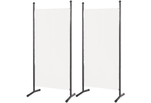 Grasekamp 2 Stück Stellwand 85 x 180 cm Weiß  Paravent Raumteiler Trennwand  Sichtschutz Weiß