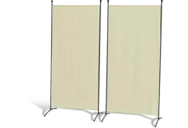 Grasekamp 2 Stück Stellwand 85x180cm Beige  Paravent Raumteiler Trennwand  Sichtschutz Beige