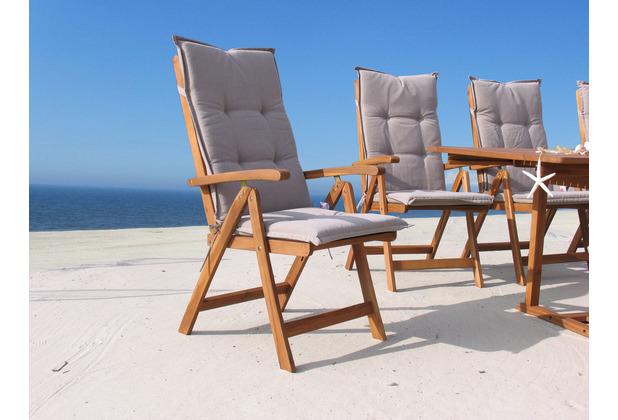 Grasekamp 4 Stück Auflagen Sand zu Sessel  Klappsessel Gartensessel sand
