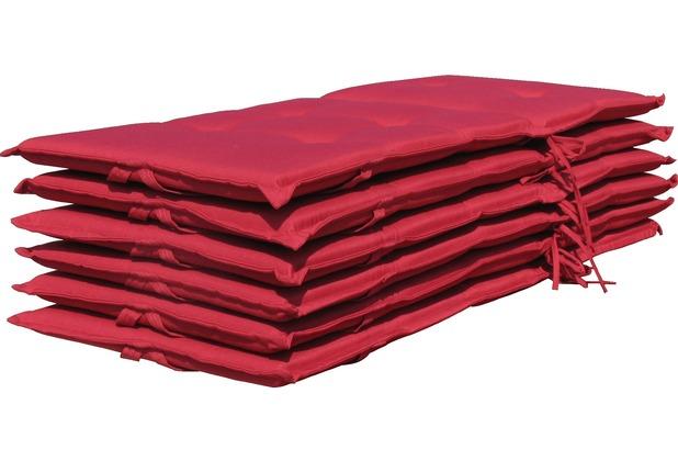 Grasekamp 6 Kissen Klappsessel Santos - Rubinrot  Uni rot