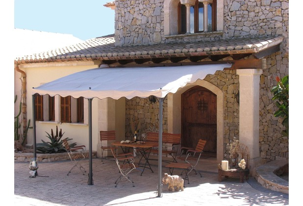 grasekamp anbaupergola terrassen berdachung mallorca 400x300cm sand sand ebay. Black Bedroom Furniture Sets. Home Design Ideas