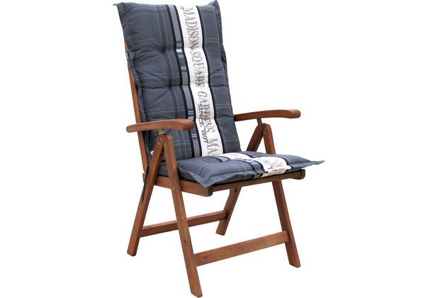 Grasekamp Auflage Garden Grey Kissen Gartensessel Klapp-Stuhl Gartenmöbel grau