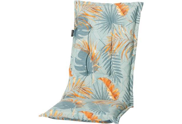 Grasekamp Auflage Palmen Blätter Blau zu  Gartensessel Kissen Gartenstuhl  Klappstuhl Blau