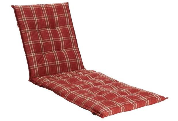 Grasekamp Auflage Rubinrot für Gartenliege  Liegestuhl Sonnenliege Relaxliege Rubinrot