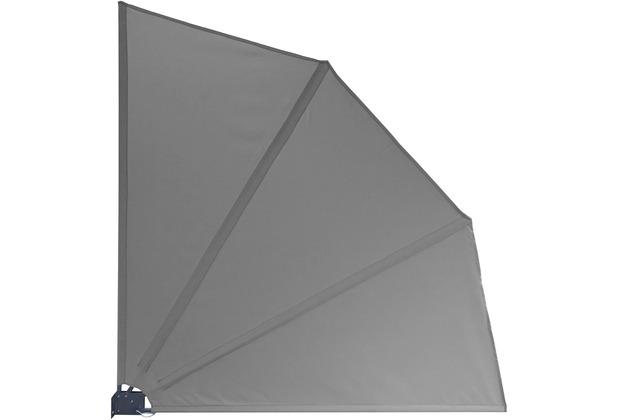 Grasekamp Balkonfächer 120 x 120 cm Grau mit  Wandhalterung Trennwand Sichtschutz Grau