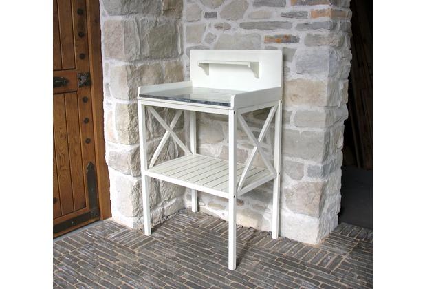 Grasekamp Basteltisch Gartentisch Pflanztisch  Akazie Weiß Weiß