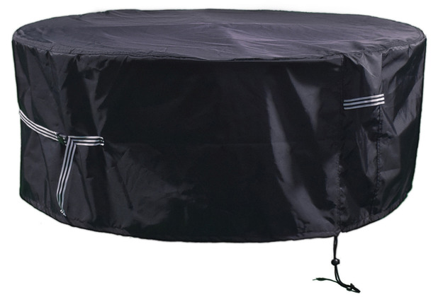 Grasekamp Black Premium Gartensitzgruppenhülle Ø  200x85cm / garden dining set cover /  atmungsaktiv / breathable Schwarz