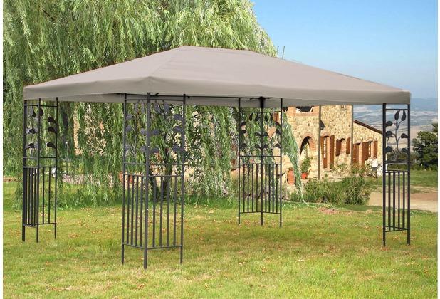 grasekamp garten pavillon bl tter 3x4m grau partyzelt carport gartenzelt gazebo grau. Black Bedroom Furniture Sets. Home Design Ideas