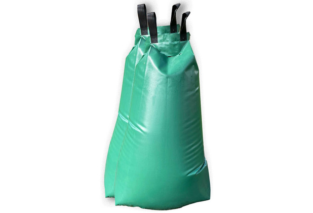 Grasekamp Doppelpack Bewässerungsbeutel für Bäume - 2 x 60 Liter - Wasserbeutel Wassersack Bewässerungssystem Grün