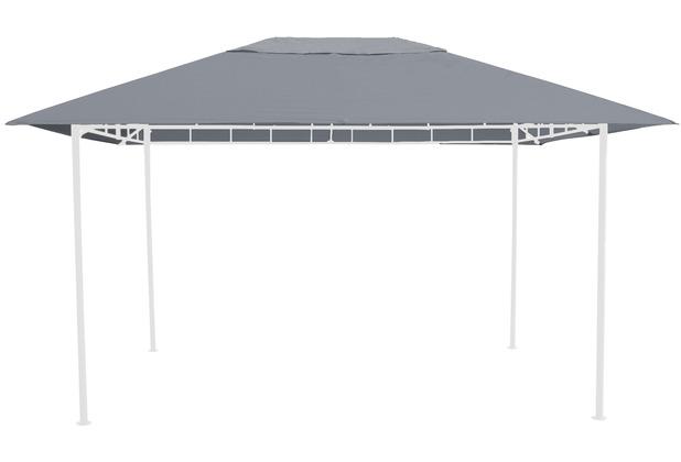 Grasekamp Ersatzdach 3x4m Grau zu Gartenpavillon  Antik Pavillon Partyzelt Grau