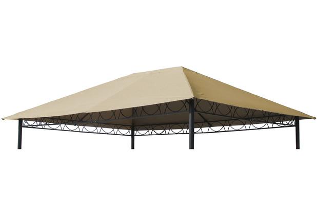 Grasekamp Ersatzdach 3x4m Stil Pavillon Sand  Ersatzplane Ersatzbezug Plane Beige