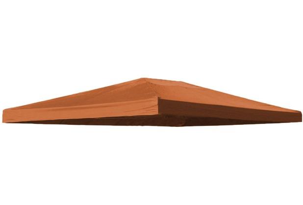 Grasekamp Ersatzdach Blätter Pavillon 3x4m  Terrakotta Plane Bezug Terrakotta