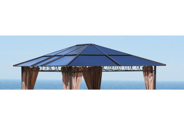 Grasekamp Ersatzdach Hardtop Pavillon 3x3,6m  Doppelstegplatten Polycarbonat Braun Braunbeige