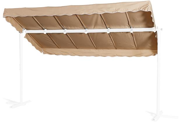 Grasekamp Ersatzdach Standmarkise Dubai Sand  Raffmarkise Ziehharmonika Mobile Markise Beige