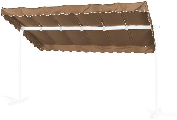 Grasekamp Ersatzdach Standmarkise Dubai Taupe Raffmarkise Ziehharmonika Mobile Markise Braun