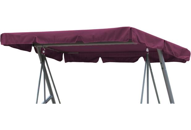 Grasekamp Ersatzdach Universal Hollywoodschaukel  Bordeaux Ersatz-Bezug Sonnendach  Dachplane Bordeaux