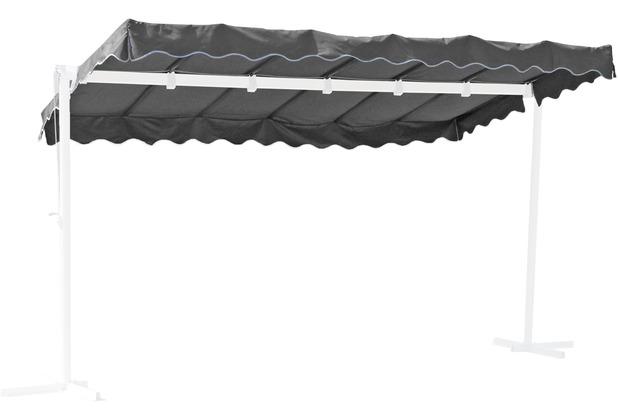 Grasekamp Ersatzdach Standmarkise Dubai Grau  Raffmarkise Ziehharmonika Mobile Markise Grau