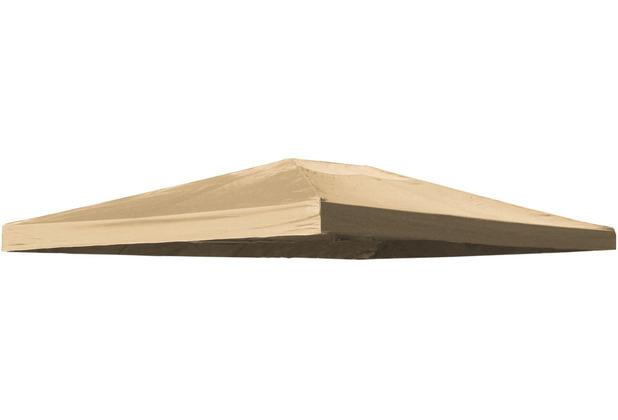 Grasekamp Ersatzdach zu Blätter-Pavillon 3x4m Sand  Plane Ersatz-Bezug Sand