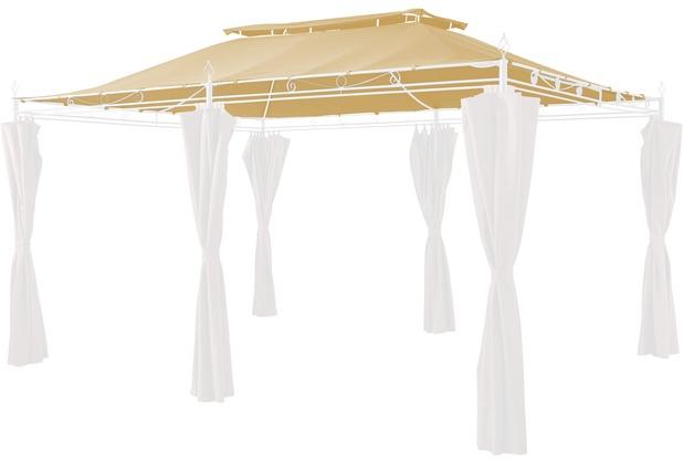 Grasekamp Ersatzdach zu Garten-Pavillon Inca 3x4  Beige Party-Zelt Terrassen-Dach Beige