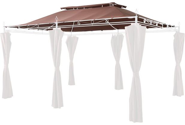 Grasekamp Ersatzdach zu Garten-Pavillon Inca 3x4 Mocca Party-Zelt Terrassen-Dach Braun