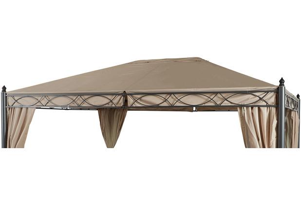 Grasekamp Ersatzdach zu Garten-Pavillon ROM 3x4  Beige Party-Zelt Terrassen-Dach Beige