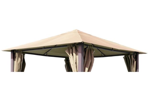 Grasekamp Ersatzdach zu Pavillon Paris 3x3m Sand  Plane Bezug Gartenpavillon Sand